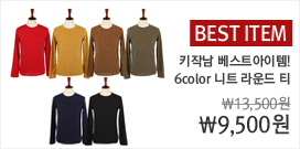 BEST ITEM -DN. 이노프 니트 라운드 티셔츠 (6color)